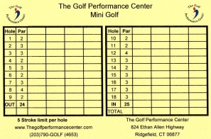 Score Cards Of Crazy Golf Miniature Golf And Adventure Golf Courses